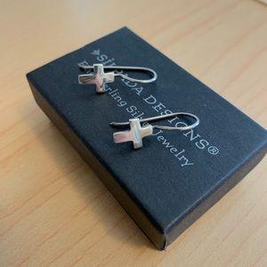 Silpada sterling silver cross earrings